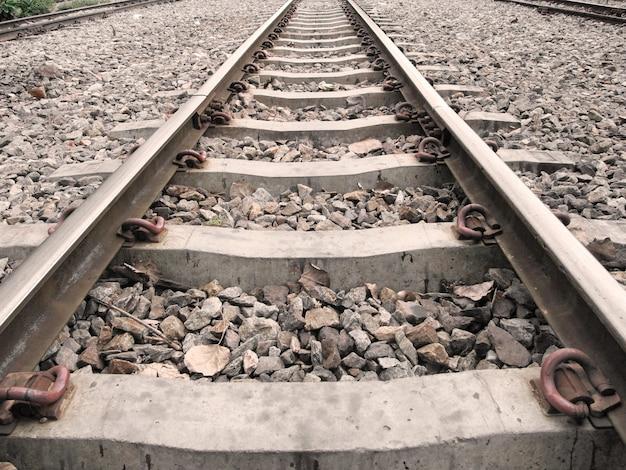 Spoorweg op station