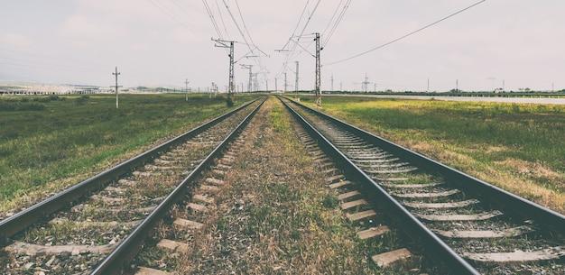 Spoorwegrails zomervakantie vakantie
