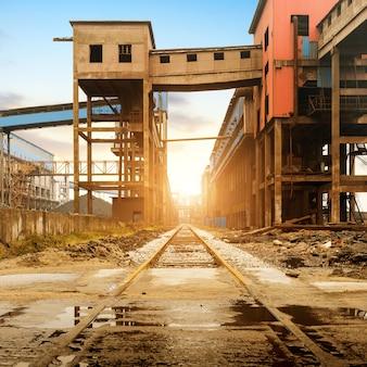 Spoorwegvervoer van staalfabriek