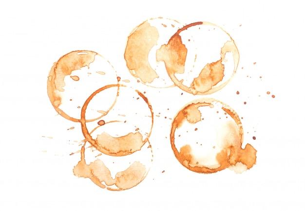Sporen van koffie.beeld