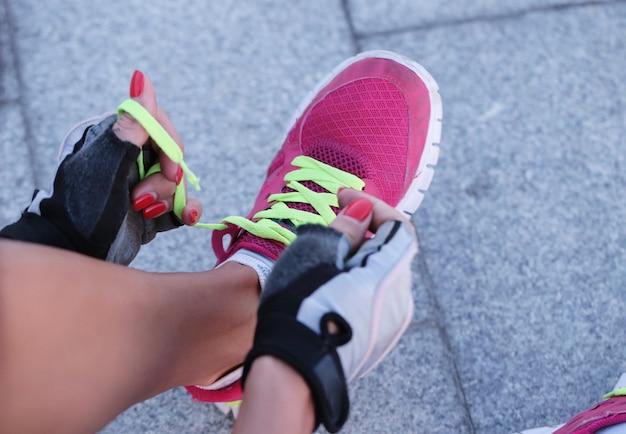 Sport buiten, vrouw, schoenen