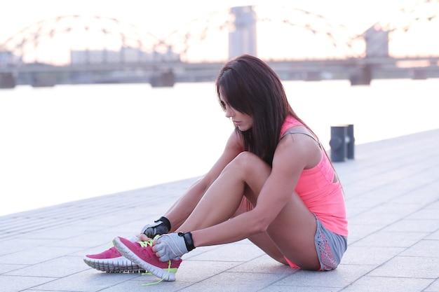 Sport buiten, vrouw