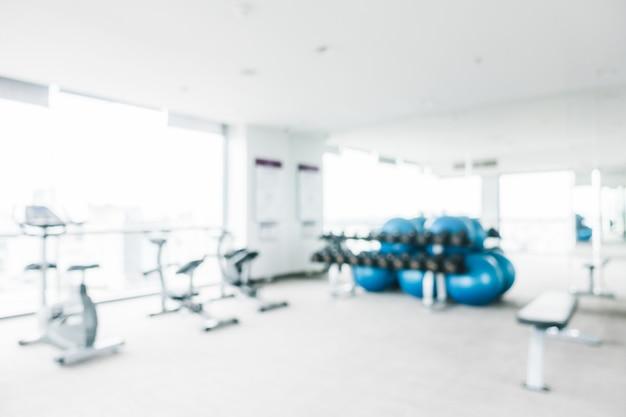 Sport en fitness wazig maken