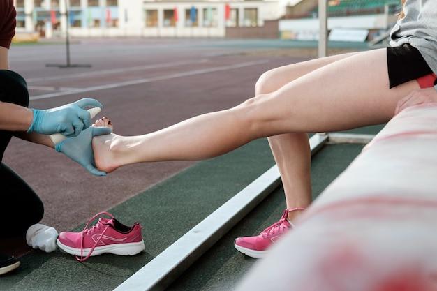 Sport geneeskunde concept.