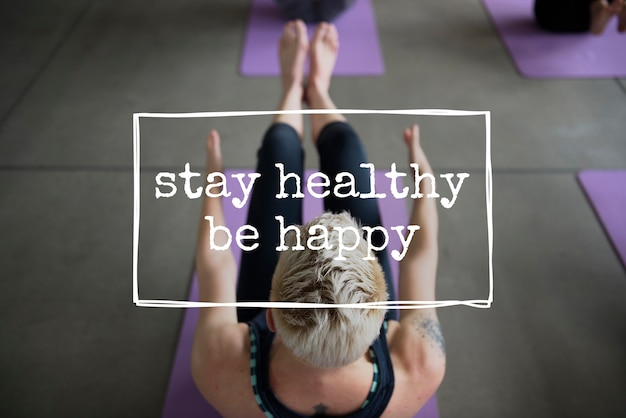 Sport gezond leven wellness levensstijl workout