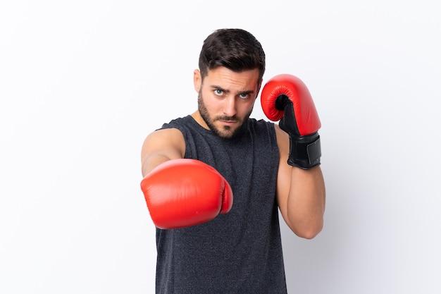 Sport man voorbereid op training