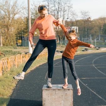 Sport vrolijke familie