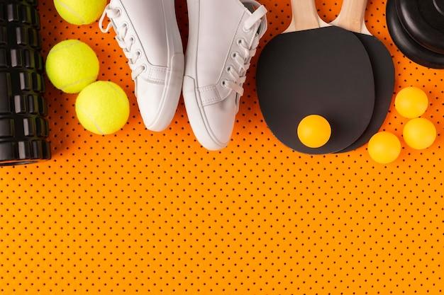 Sportassortiment in minimalistische stijl
