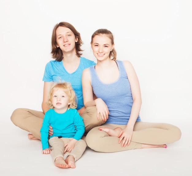 Sportief en gelukkig gezin