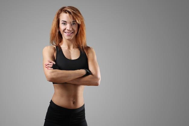 Sportieve vrouw uit te werken