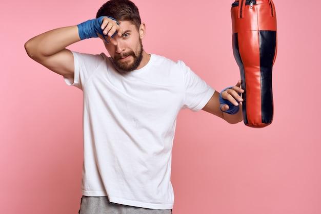 Sportman boksbandage training oefening punch