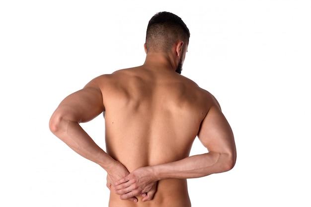 Sportman klampt zich vast aan rugpijn