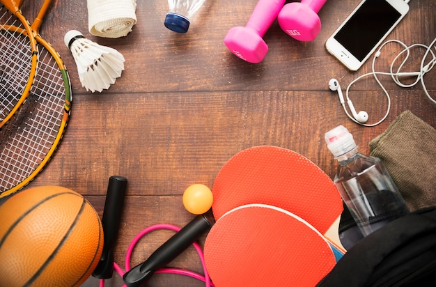 Sportsamenstelling met moderne elementen