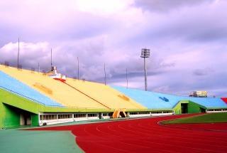 Sportstadion zijaanzicht