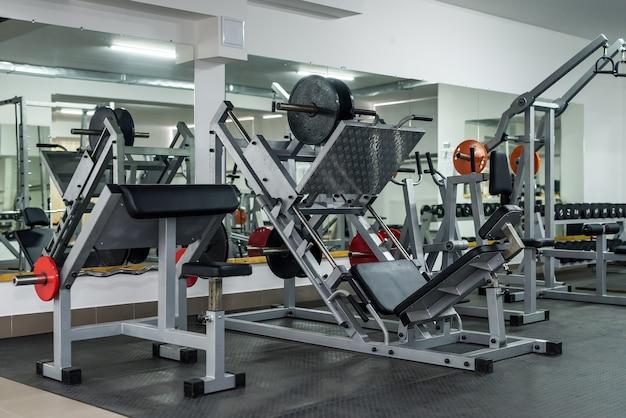 Sportuitrusting in de sportschool close-up