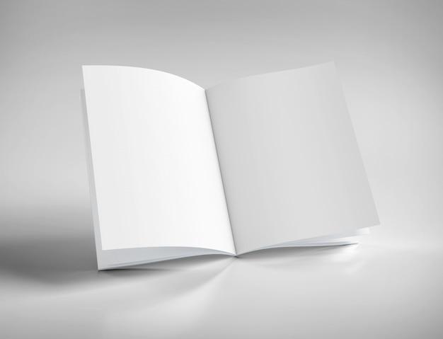 Spot omhoog van een open tijdschrift - het 3d teruggeven
