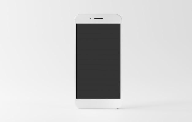 Spot omhoog van een smartphone die met schaduw wordt geïsoleerd - het 3d teruggeven
