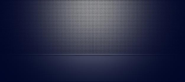 Spot verlichte geperforeerde metalen plaat close-up