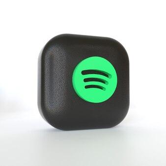 Spotify-toepassingslogo met 3d-weergave
