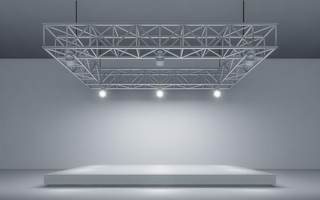 Spotlight achtergrond en lamp met podium