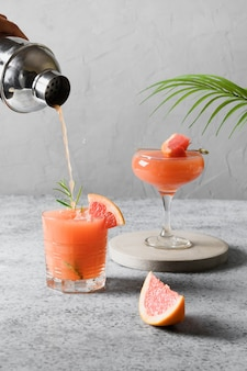 Sprankelende cocktails van grapefruit