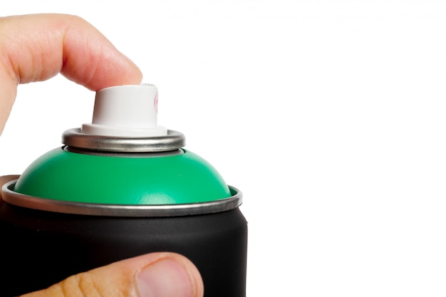 Spray verf kan op wit