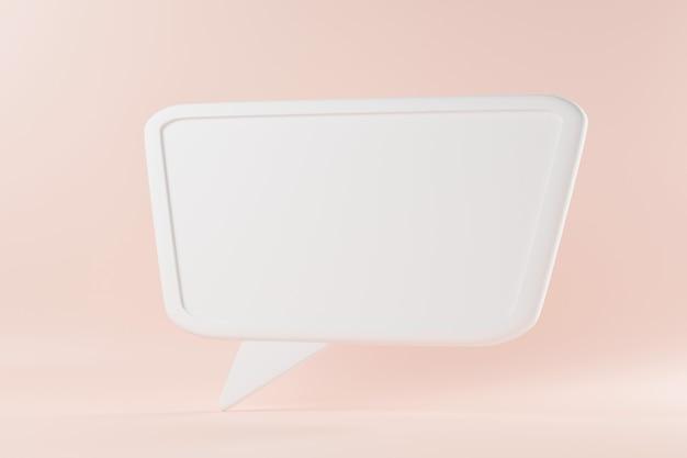 Spreek zeepbel tekst praten chatten vak denken teken symbool 3d-rendering illustratie
