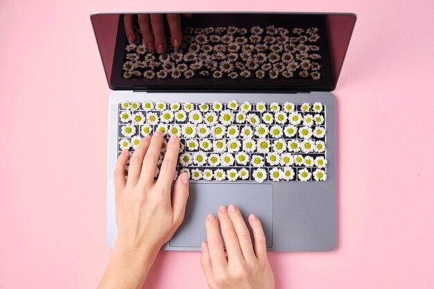 Spring flowers-toetsenbord