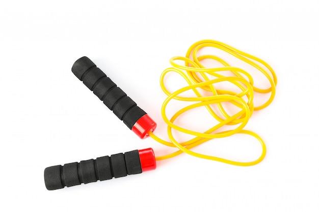 Springen of touwtjespringen geïsoleerd op een witte achtergrond