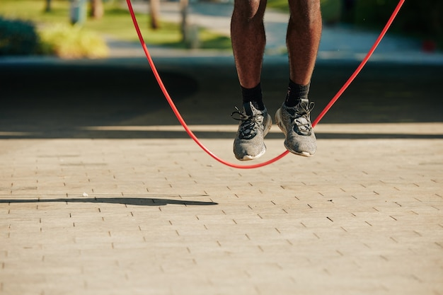 Springende sportman