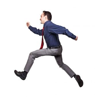 Springende zakenman