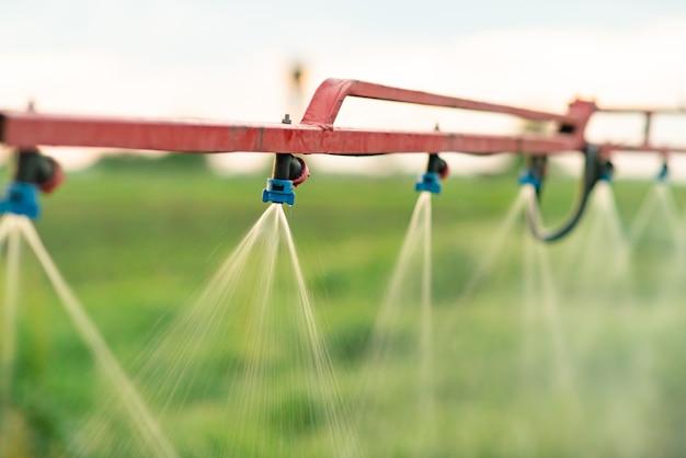 Sproeikoppen van landbouwspuiten.