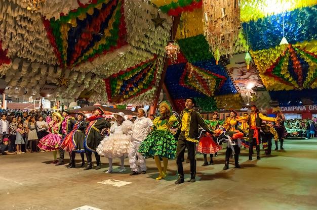 Square dance op het feest van sint john campina grande paraiba brazil