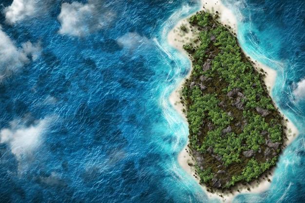Sri lanka 3d-kaart