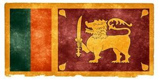 Sri lanka grunge vlag