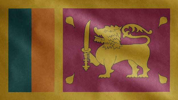 Sri lanka vlag zwaaien in de wind