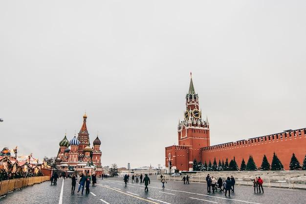 St basil kathedraal op het rode plein, moskou, rusland