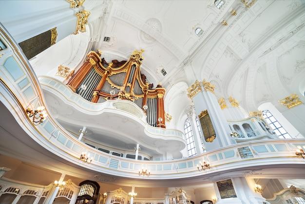 St. michael church in hamburg, interieur