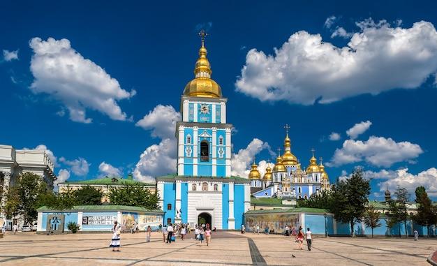 St. michael's klooster met gouden koepels. kiev, oekraïne