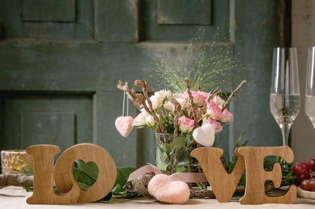 St. valentijnsdag tabel instelling