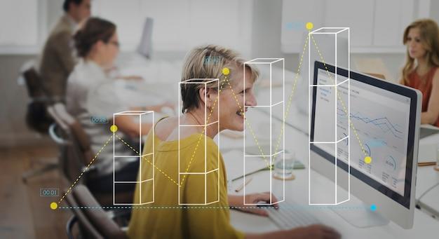 Staafdiagram statistieken analyse bedrijfsconcept