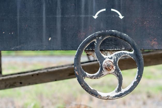 Staal spiraalvormig stuur van de trein