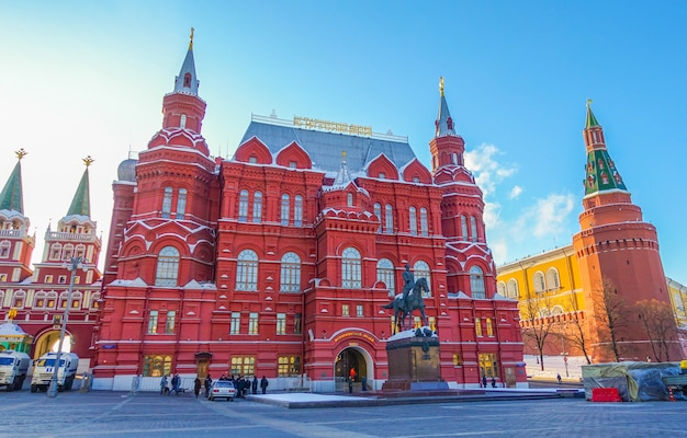 Staat historisch museum in moskou, rusland.