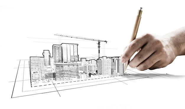 Stad civiele planning en vastgoedontwikkeling