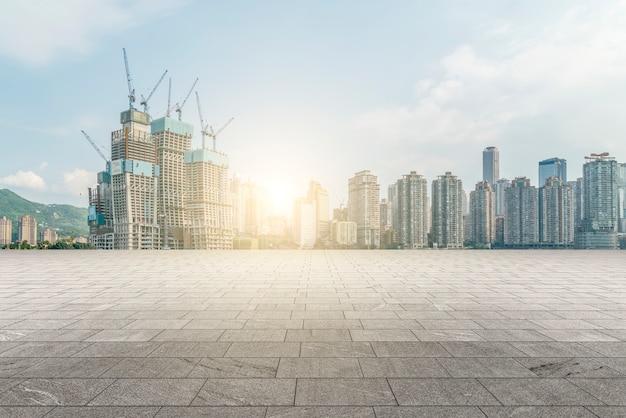 Stad gebouwen, landschappen en wegen