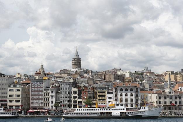 Stad gezien vanuit de verte