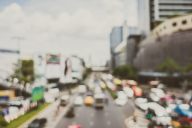 Stad met een overmaat van auto's