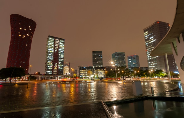 Stad onder de regen