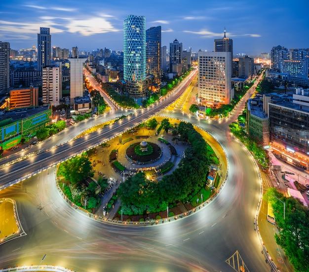 Stad scape van nanchang china.