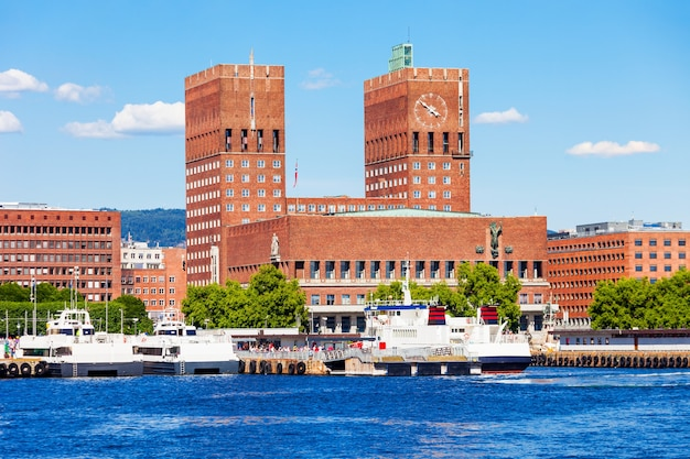 Stadhuis of radhus in oslo, noorwegen